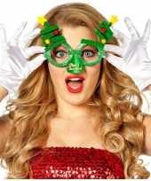Carnavalskleding kerst feest verkleed bril groen kerstbomen volwassenen arnhem