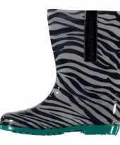 Carnavalskleding kinder regenlaarzen zebra motief groen arnhem