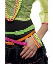 Carnavalskleding kralen armbanden neon kleuren arnhem