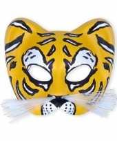 Carnavalskleding kunstof oogmasker tijger arnhem