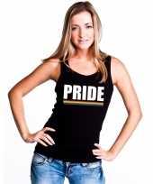 Carnavalskleding lgbt singlet-shirt tanktop zwart pride dames arnhem