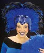 Carnavalskleding luxe hoofdtooi blauw arnhem