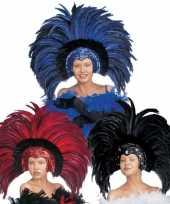 Carnavalskleding luxe hoofdtooi veren arnhem