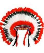 Carnavalskleding luxe indianen hoofdtooi arnhem