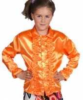 Carnavalskleding luxe oranje rouches blouse kinderen arnhem