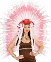 Carnavalskleding luxe roze indianen tooi arnhem