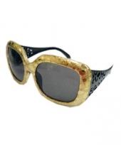 Carnavalskleding macho zonnebril goud arnhem