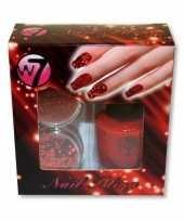 Carnavalskleding nagellak kit rood glitters arnhem