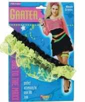 Carnavalskleding neon groene kousenband arnhem