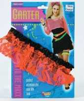 Carnavalskleding neon oranje kousenband dames arnhem