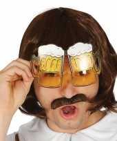 Carnavalskleding oktoberfest bier pullen verkleed bril volwassenen arnhem