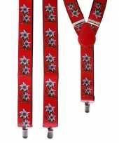 Carnavalskleding oktoberfest rode edelweiss bretels bloemen arnhem