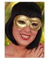 Carnavalskleding oogmasker goud glitters arnhem