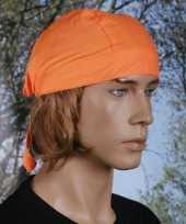 Carnavalskleding oranje kleurige bandana uni arnhem