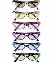 Carnavalskleding ovale glimmende brillen arnhem