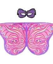 Carnavalskleding paars roze fantasievlinder verkleedset meisjes arnhem