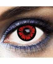 Carnavalskleding party dag kleurlenzen vampier rood arnhem