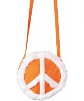 Carnavalskleding peace tasje oranje arnhem