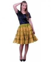 Carnavalskleding petticoat laags goud arnhem