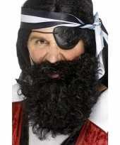 Carnavalskleding piraten baard zwart gekruld arnhem