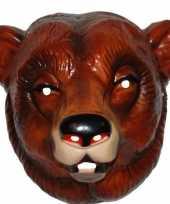 Carnavalskleding plastic beren masker volwassenen arnhem