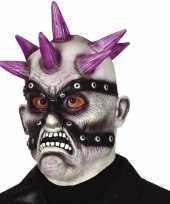 Carnavalskleding punk zombie horror masker latex arnhem