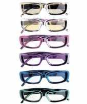 Carnavalskleding rechthoekige glimmende brillen arnhem