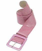 Carnavalskleding riem roze glitter arnhem