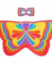 Carnavalskleding rode regenboogvlinder verkleedset meisjes arnhem