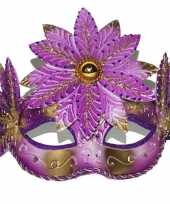 Carnavalskleding roze fleurig oogmasker arnhem