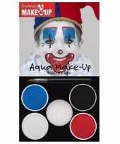 Carnavalskleding schmink set horror clown kleuren arnhem