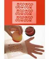 Carnavalskleding schmink sjabloon ornament hart arnhem