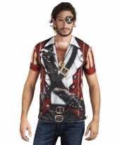 Carnavalskleding shirt piraat opdruk arnhem