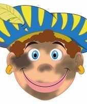 Carnavalskleding sinterklaas kartonnen roetveeg pieten masker kinderen arnhem