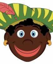 Carnavalskleding sinterklaas kartonnen zwarte pieten masker kinderen arnhem