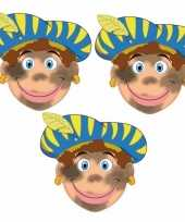 Carnavalskleding sinterklaas roetveeg pieten maskers setje stuks arnhem