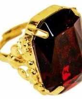 Carnavalskleding sinterklaas verkleed ring goud rood rechthoekig heren arnhem