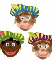 Carnavalskleding sinterklaas zwarte pieten maskers setje stuks arnhem