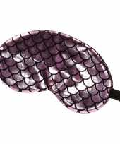 Carnavalskleding slaapmasker oogmasker zeemeermin roze zwart volwassenen arnhem