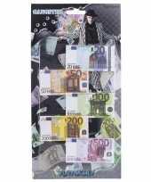 Carnavalskleding speelgoed geld euro biljetten setje headercard arnhem