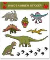 Carnavalskleding tattoo stickers dinosaurussen stuks arnhem