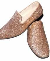 Carnavalskleding toppers gouden glitter pailletten disco instap schoenen heren arnhem