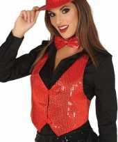 Carnavalskleding toppers rode verkleed gilet pailletten dames arnhem