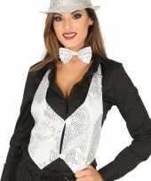 Carnavalskleding toppers witte verkleed gilet pailletten maat dames arnhem