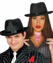 Carnavalskleding trilby hoed krijtstreep volwassenen arnhem