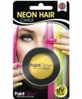 Carnavalskleding uv haarkrijt geel arnhem