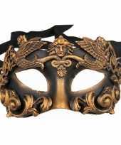 Carnavalskleding venetiaans barok oogmasker zwart brons arnhem