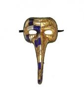 Carnavalskleding venetiaans masker goud lange neus arnhem