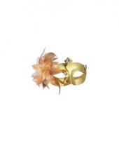 Carnavalskleding venetiaans oogmasker metallic goud arnhem
