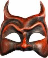 Carnavalskleding venetiaanse rode duivel masker arnhem